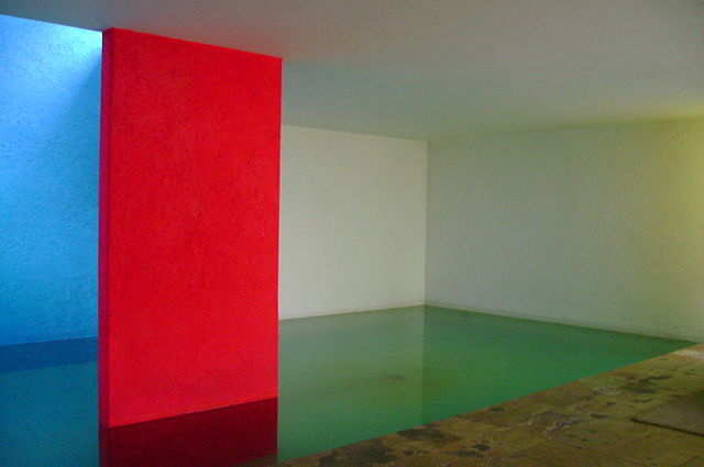Fountain of Casa Gilardi, designed by the Mexican architect Luis Barragán, in Mexico City, Mexico