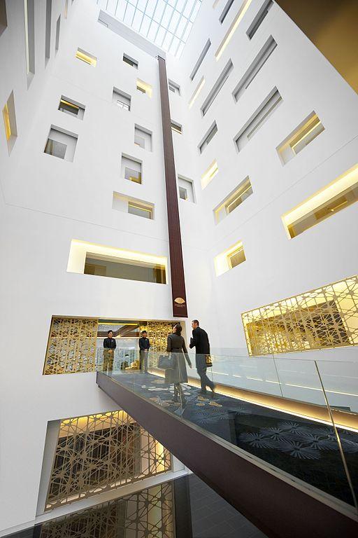 Courtyard entry, Patricia Urquiola interior design, Mandarin Oriental Hotel, Barcelona