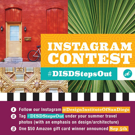 Image of various vacation spots, with text describing rules of summer Instagram contest