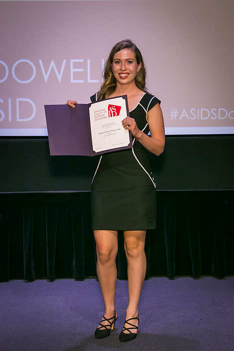 DI Student Amanda Dowell receives 1st place for her commercial project and 2nd place for her sustainable design project