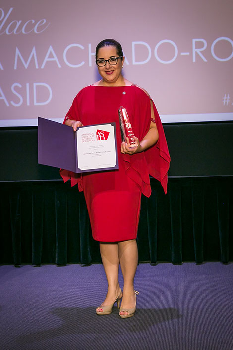 DI Alumna and Senior Designer and Department Head of Jackson Design and Remodeling Tatiana Machado-Rosas takes home two awards