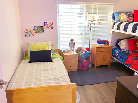 Another view of the boys' room after. Photo credit: Humble Design San Diego