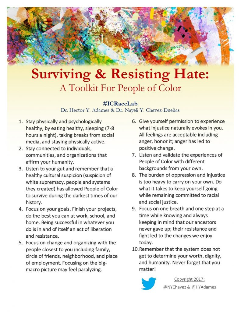 Surviving and Resisting Hate