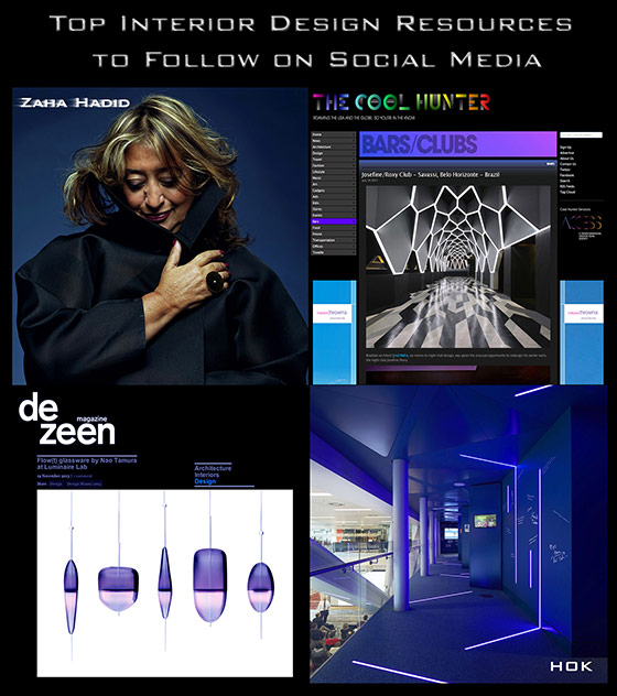 Top Interior Design Resources to Follow on Social Media