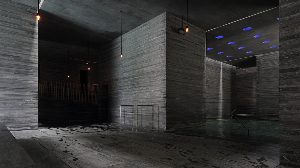 Therme Vals designed by Peter Zumthor