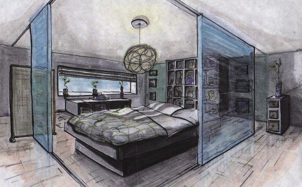 Quick Sketching master bedroom
