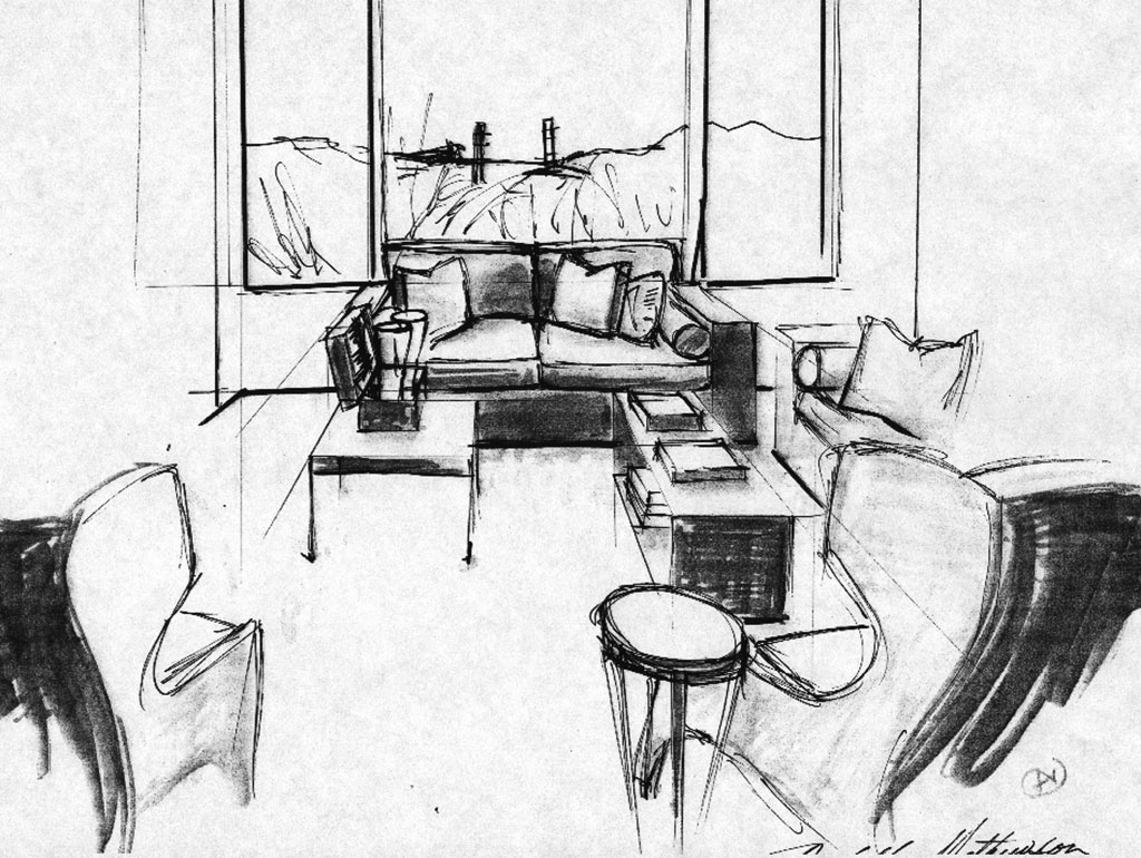 Quick Sketching - living room