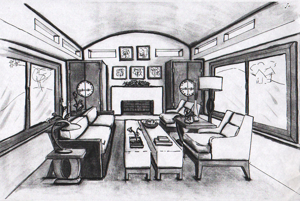 Quick Sketching living room