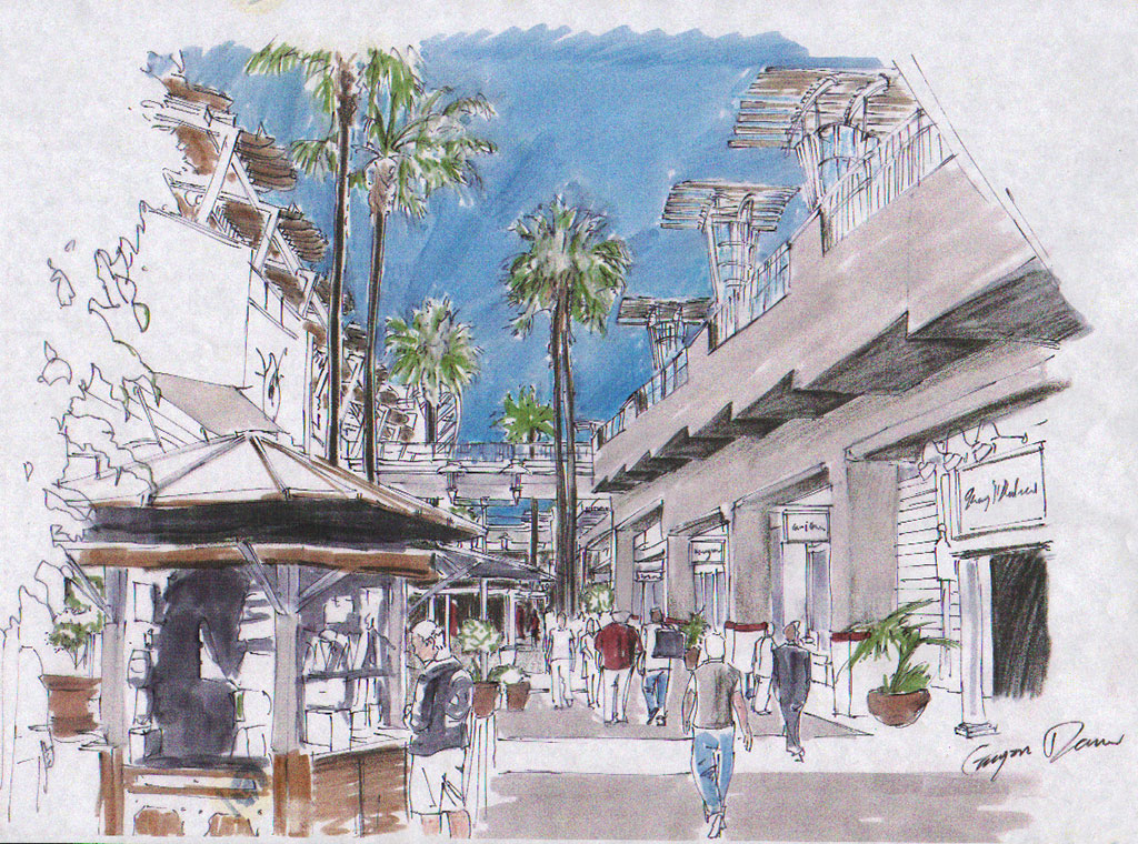 Quick Sketching outdoor mall