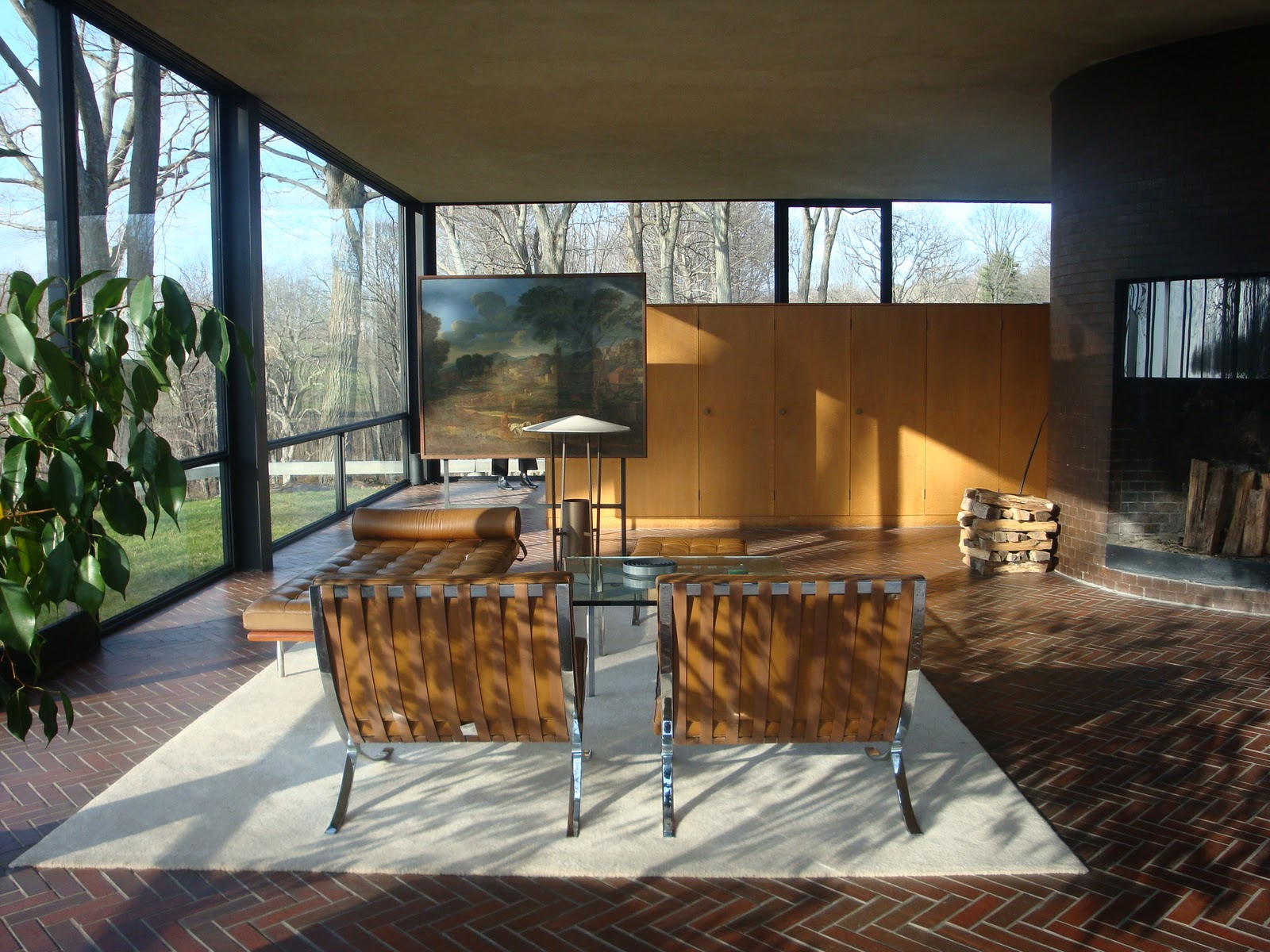 Glass House, New Canaan, CT. Designed by Philip Johnson, 1949.