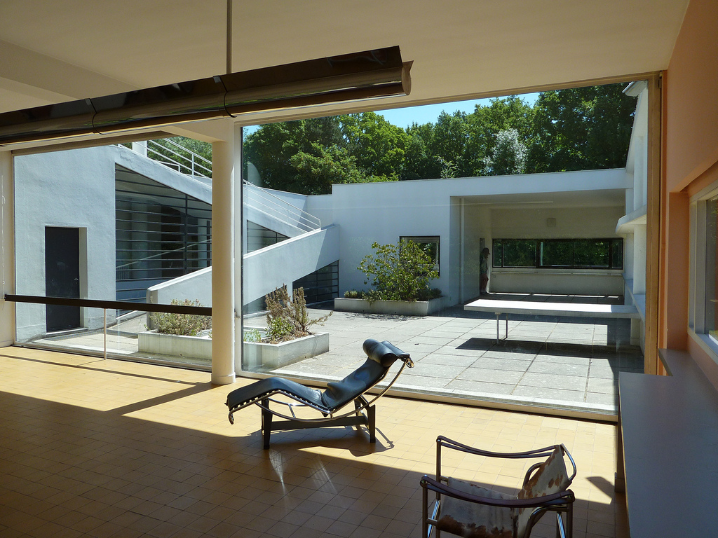 Villa Savoye, Poissy, France. Designed by  Le Corbusier and Pierre Jeanneret, 1931.