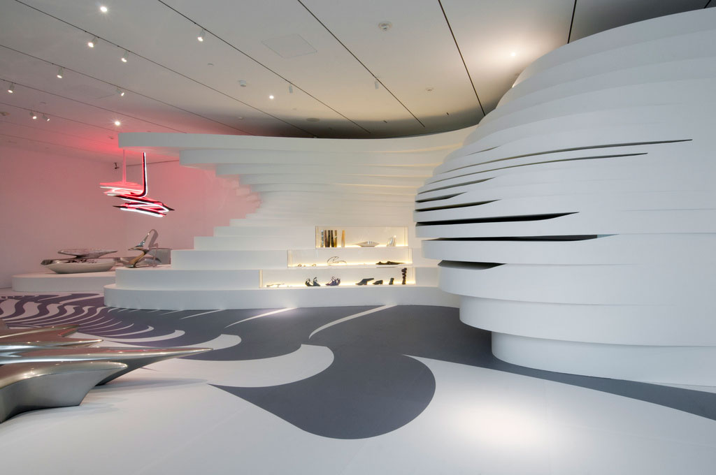 Iconic Interior Design - Form in Motion 010 at Philadelphia Museum of Art, Designed by Zaha Hadid, 2011.