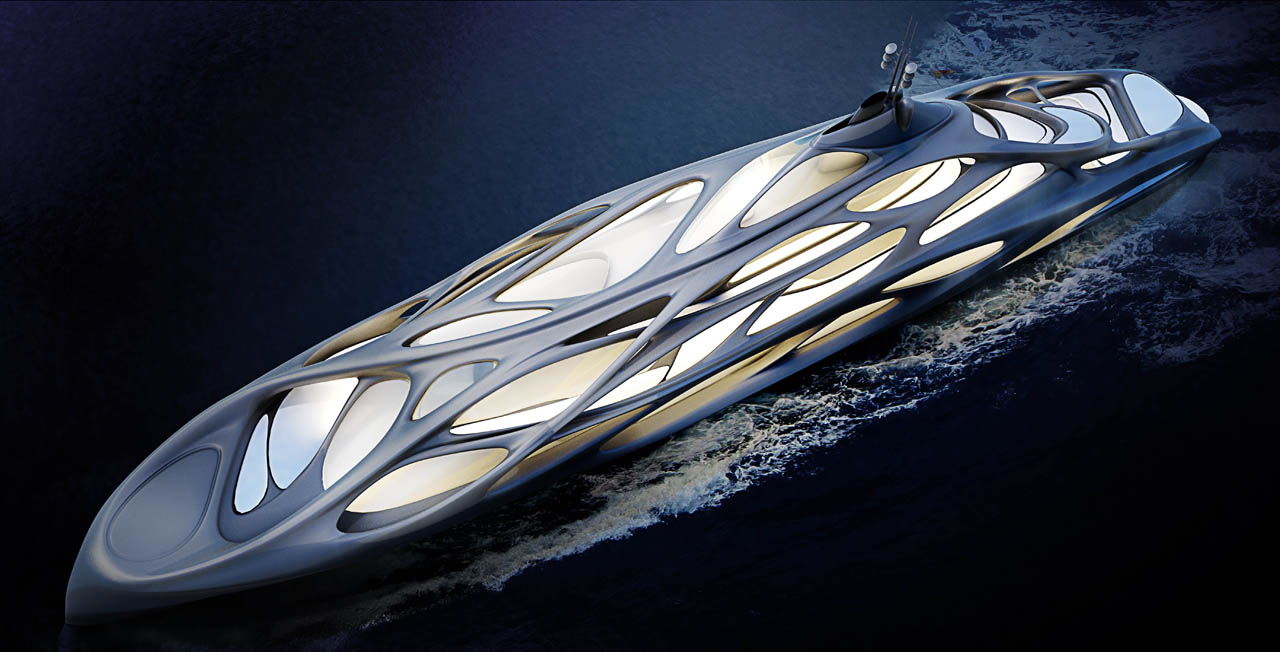 Superyacht for Blohm+Voss, Year Built: currently being designed, Interior Designer: Zaha Hadid Architects