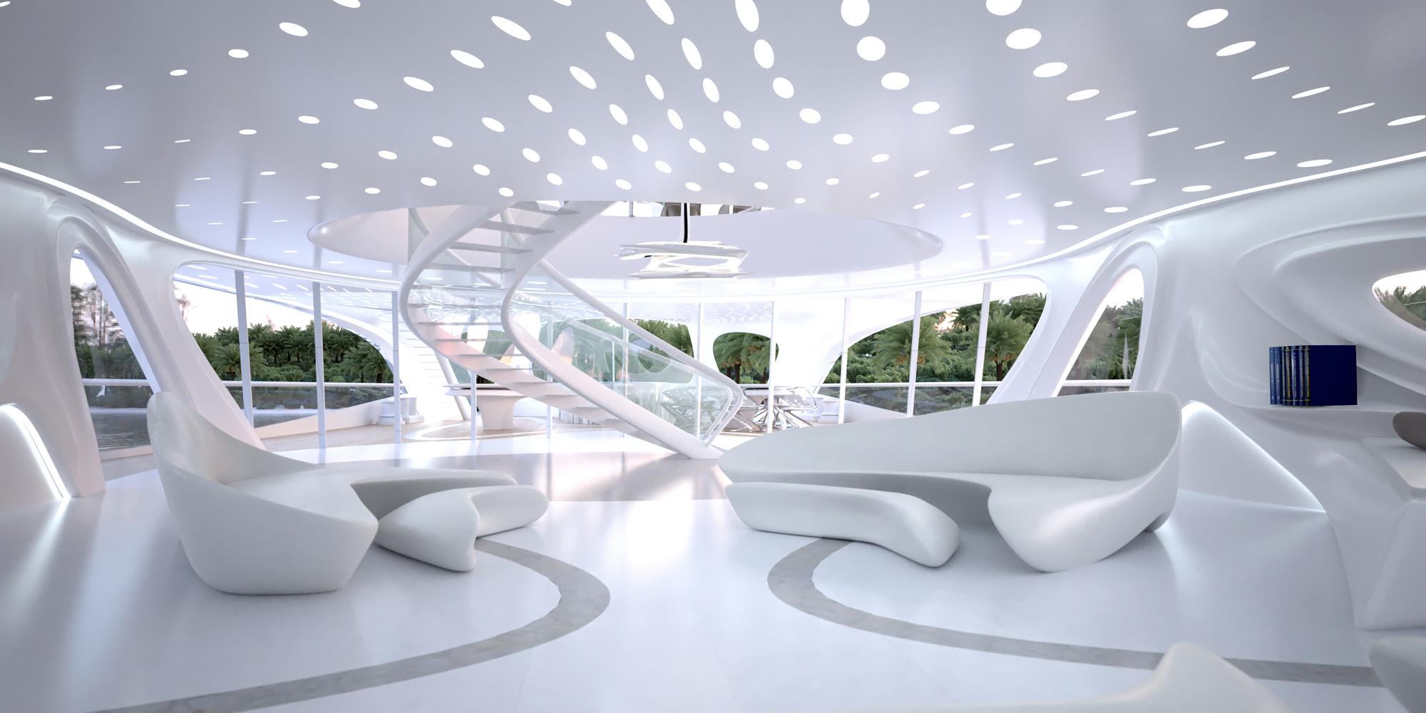 Superyacht for Blohm+Voss, Year Built: currently being designed, Interior Designer: Zaha Hadid Architect