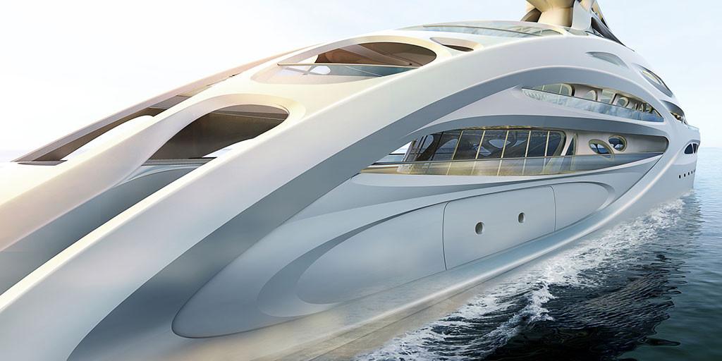 Superyacht for Blohm+Voss, Year Built: currently being designed, Interior Designer: Zaha Hadid | Yacht Interior Design | DI Interior Design Blog | Design Institute of San Diego