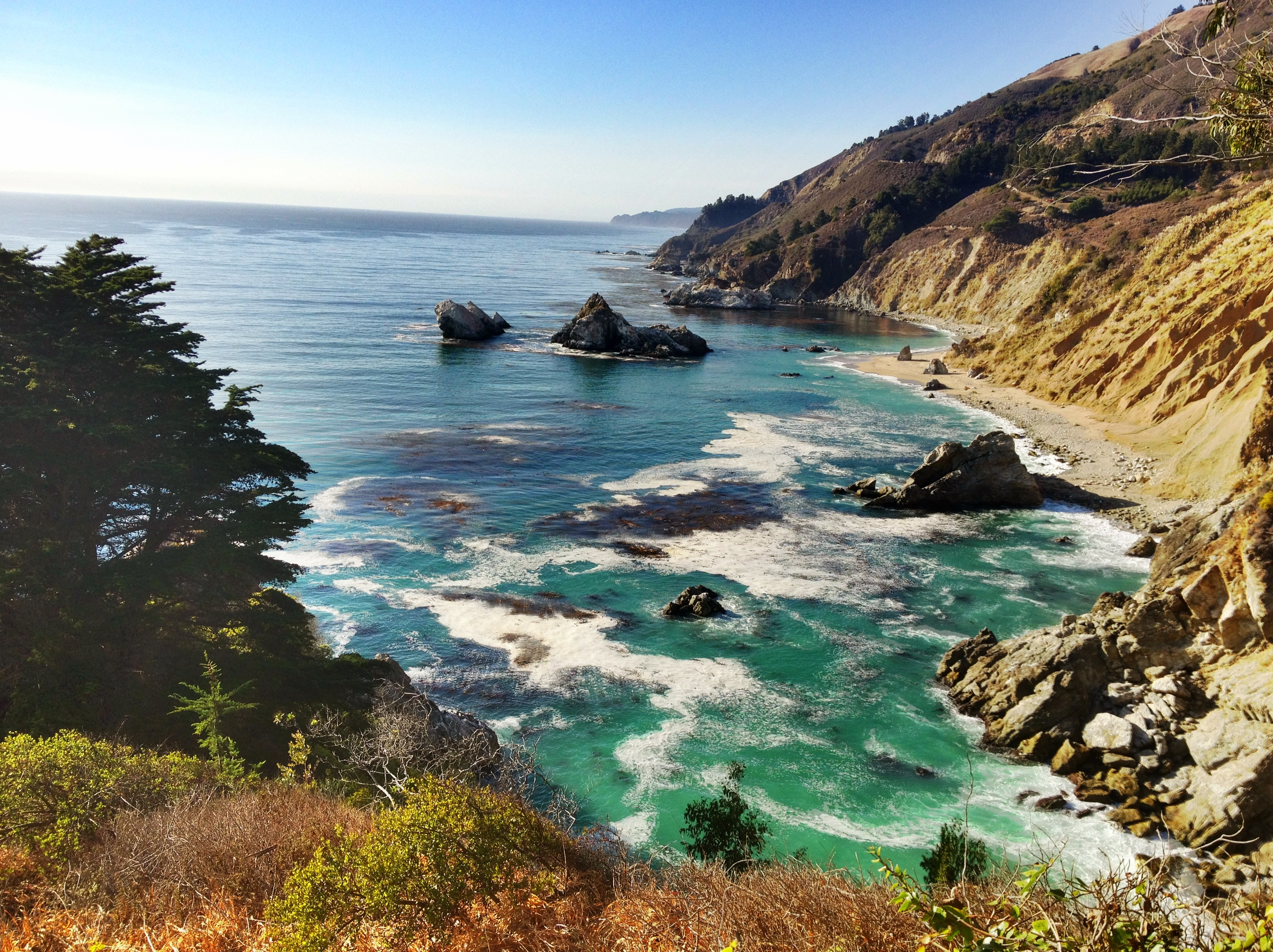 transitioning into fall - View from Cabrillo Highway at Big Sur