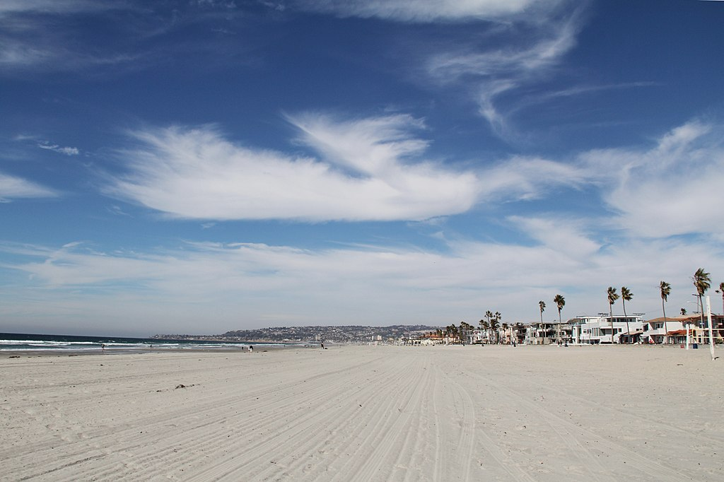 Panoramic view of Mission Beach, San Diego, CA