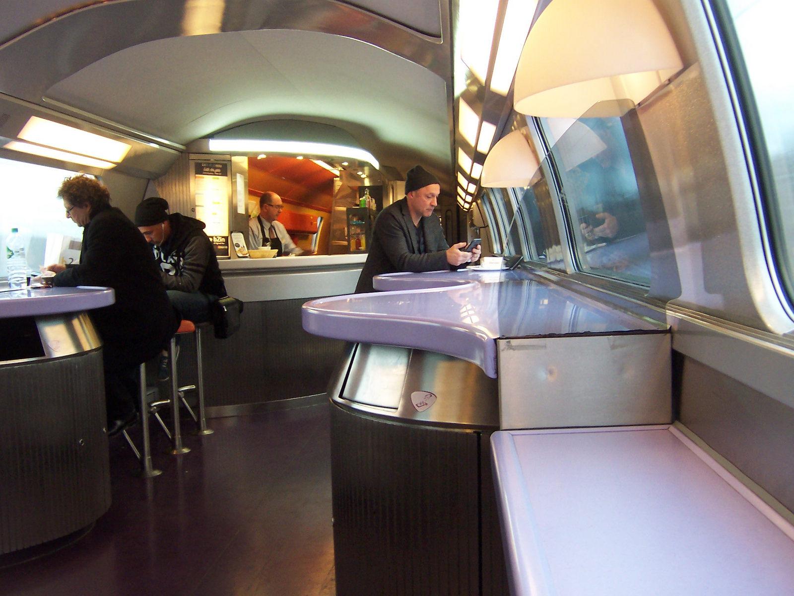 modern train inside
