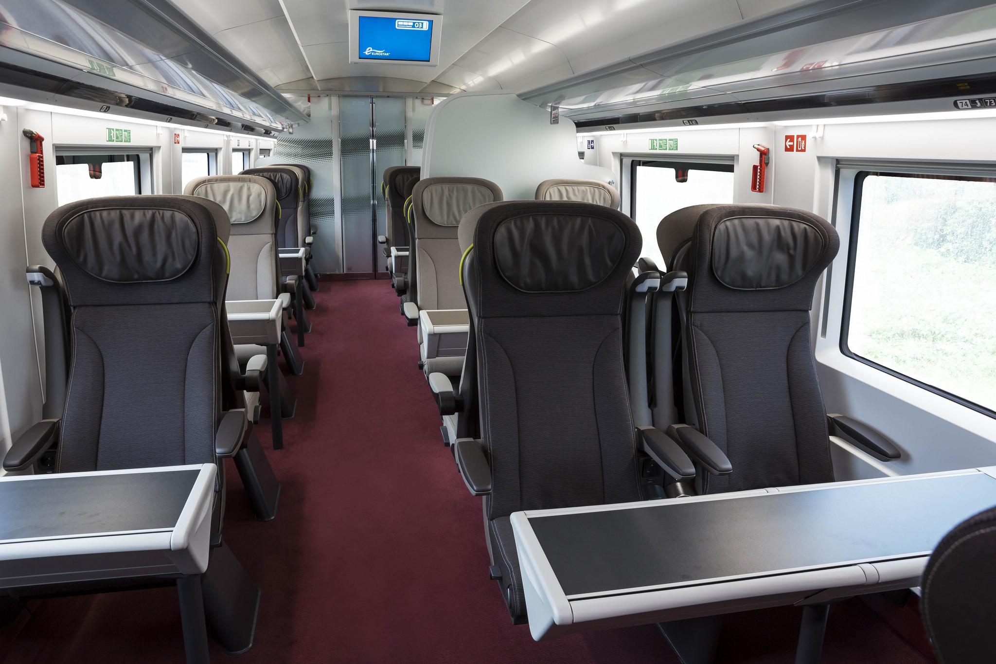 Interior Design on the Go - eurostar train inside