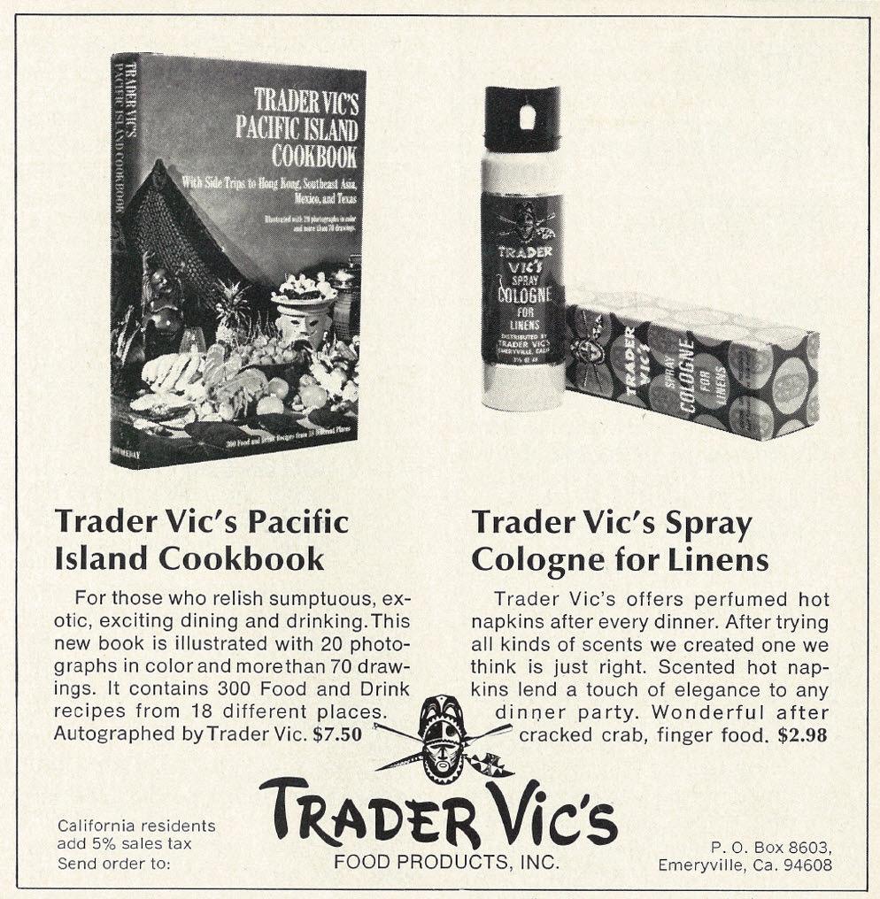 Trader Vics Ad