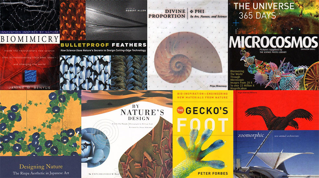 Books on nature, biomimicry, and nature-inspired design
