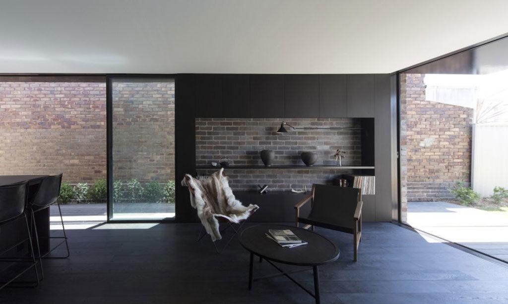 Shades of Black- Llewellyn House by studioplusthree