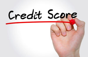 Money Tips Every College Student - Hand writing Credit Score with marker, Business concept