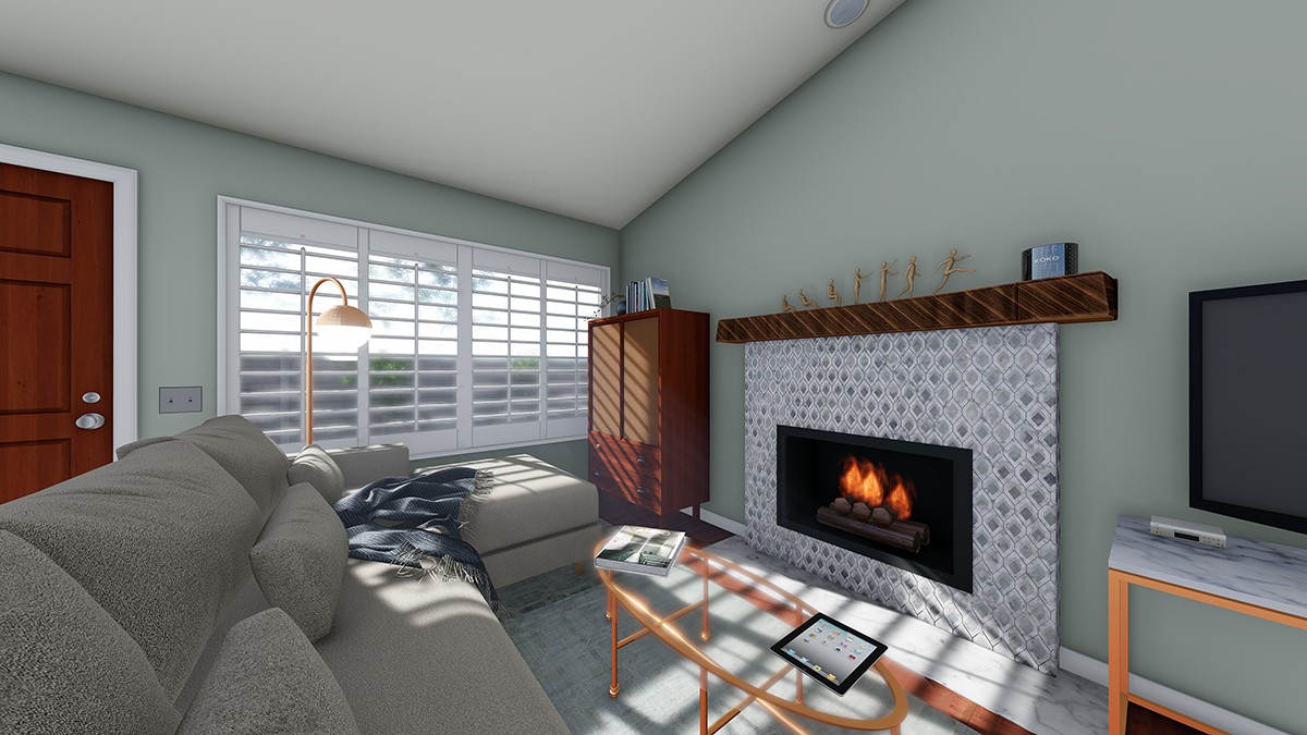 Living room project for a DI graduate that wanted to show her client her proposal.