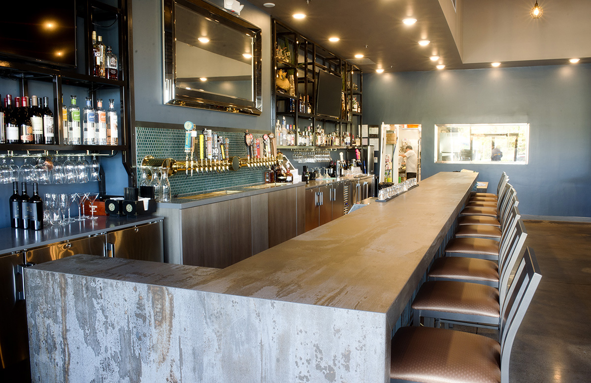 A view looking in to the bar area of restaurant Public House 131