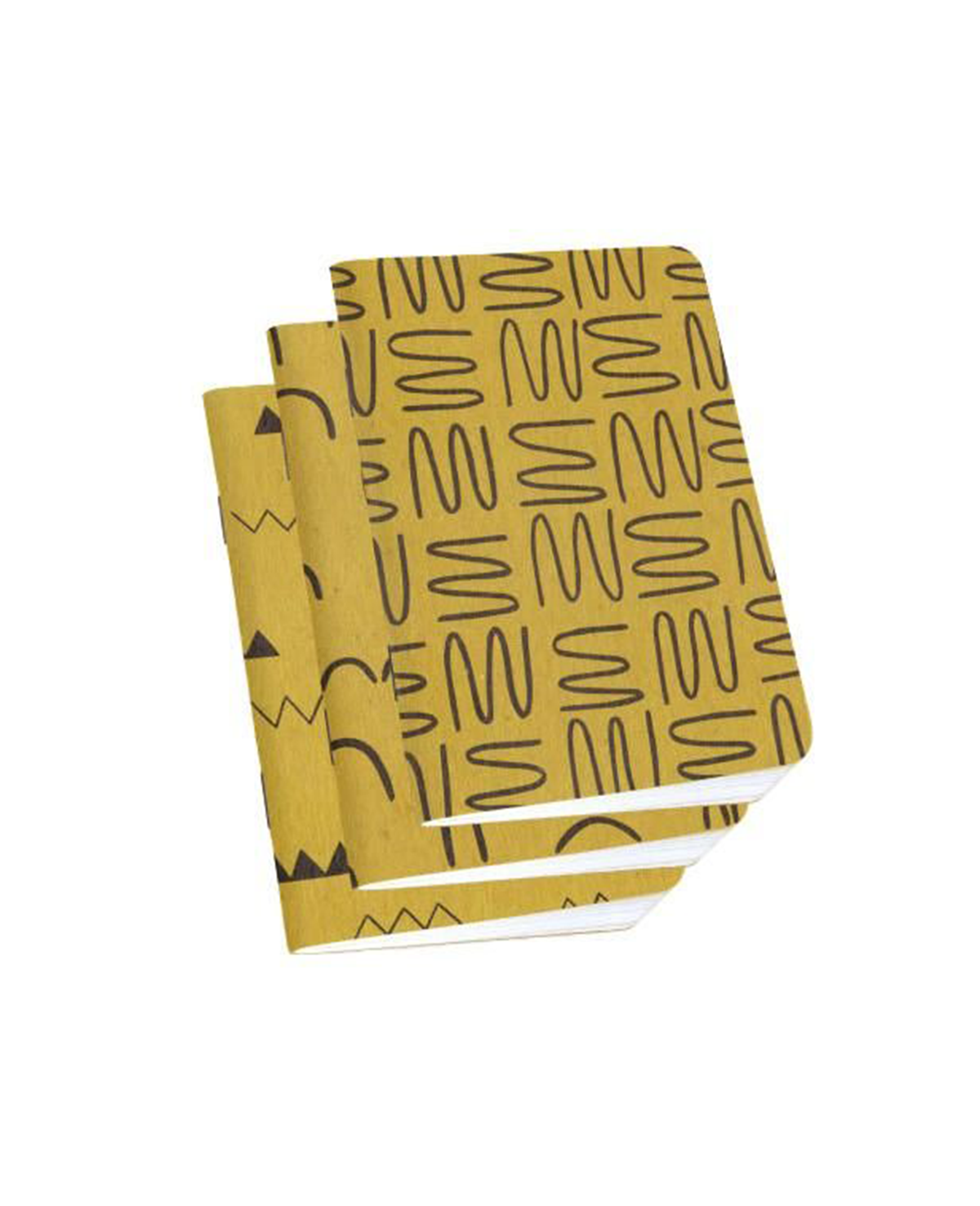 Gold Ochre Notebook Collection from Cotton and Flax