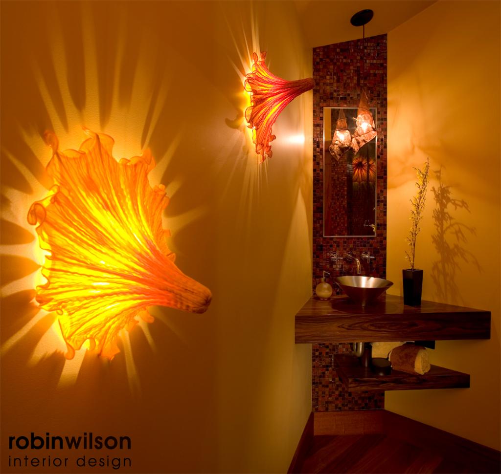 Powder Room designed by Robin Wilson Interior Design