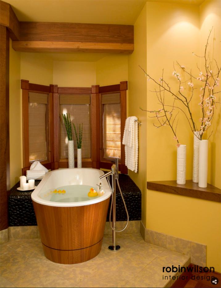 Master Bath designed by Robin Wilson Interior Design