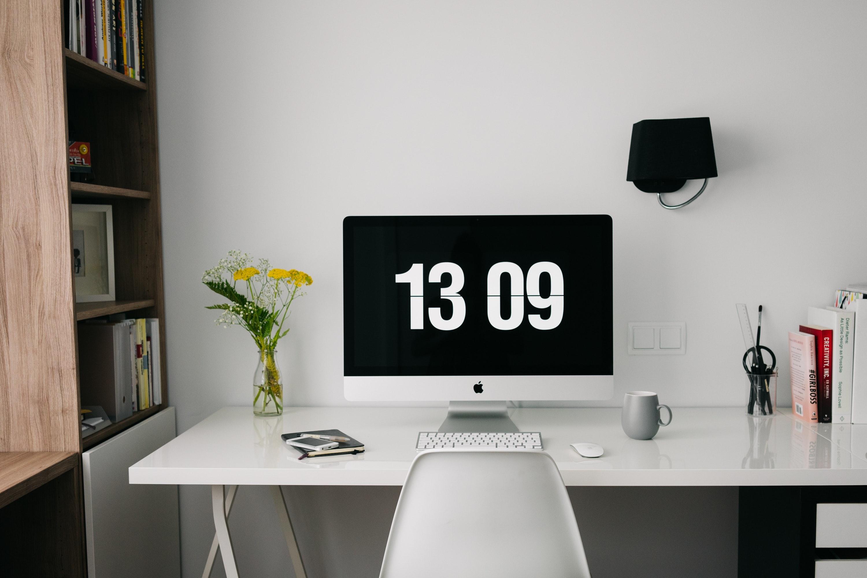 a white desk