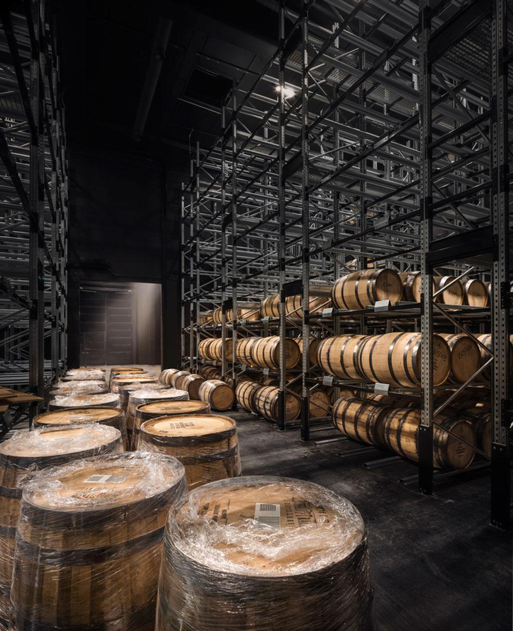 Kyrö Distillery barrel storage building designed by Avanto Architects