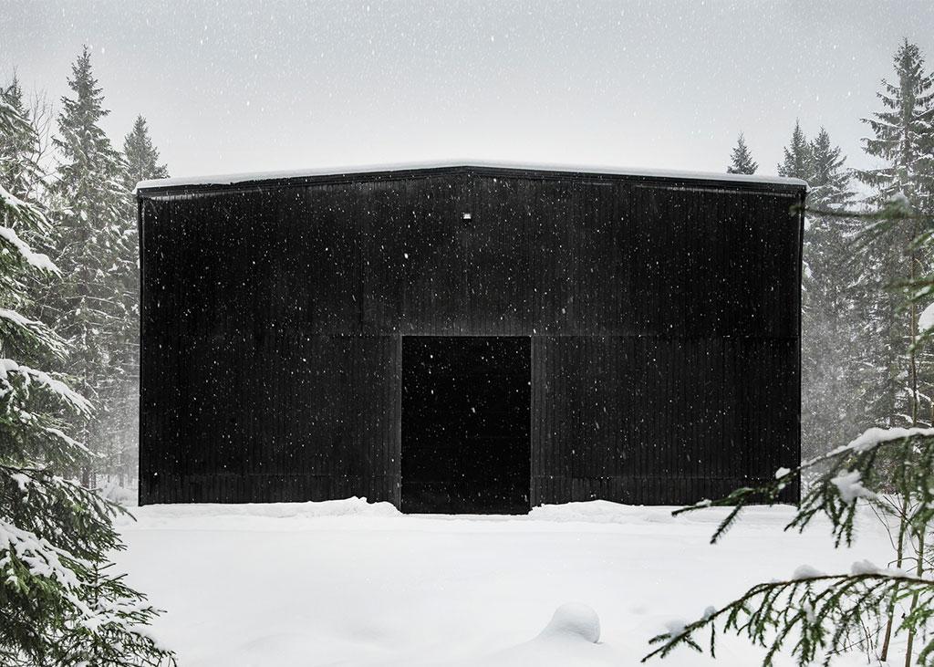 Kyrö Distillery barrel storage building designed by Avanto Architects, Photography by Kuvatoimisto Kuvio Oy
